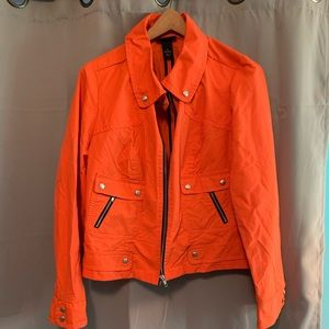 Great plus size jacket! Fun Orange color!